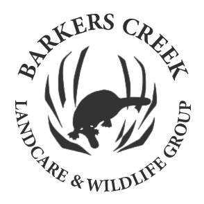 Barkers Creek Landcare logo with platypus