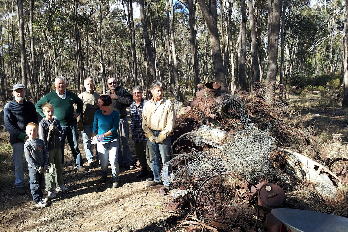 Rubbish from the Bushland Reserve