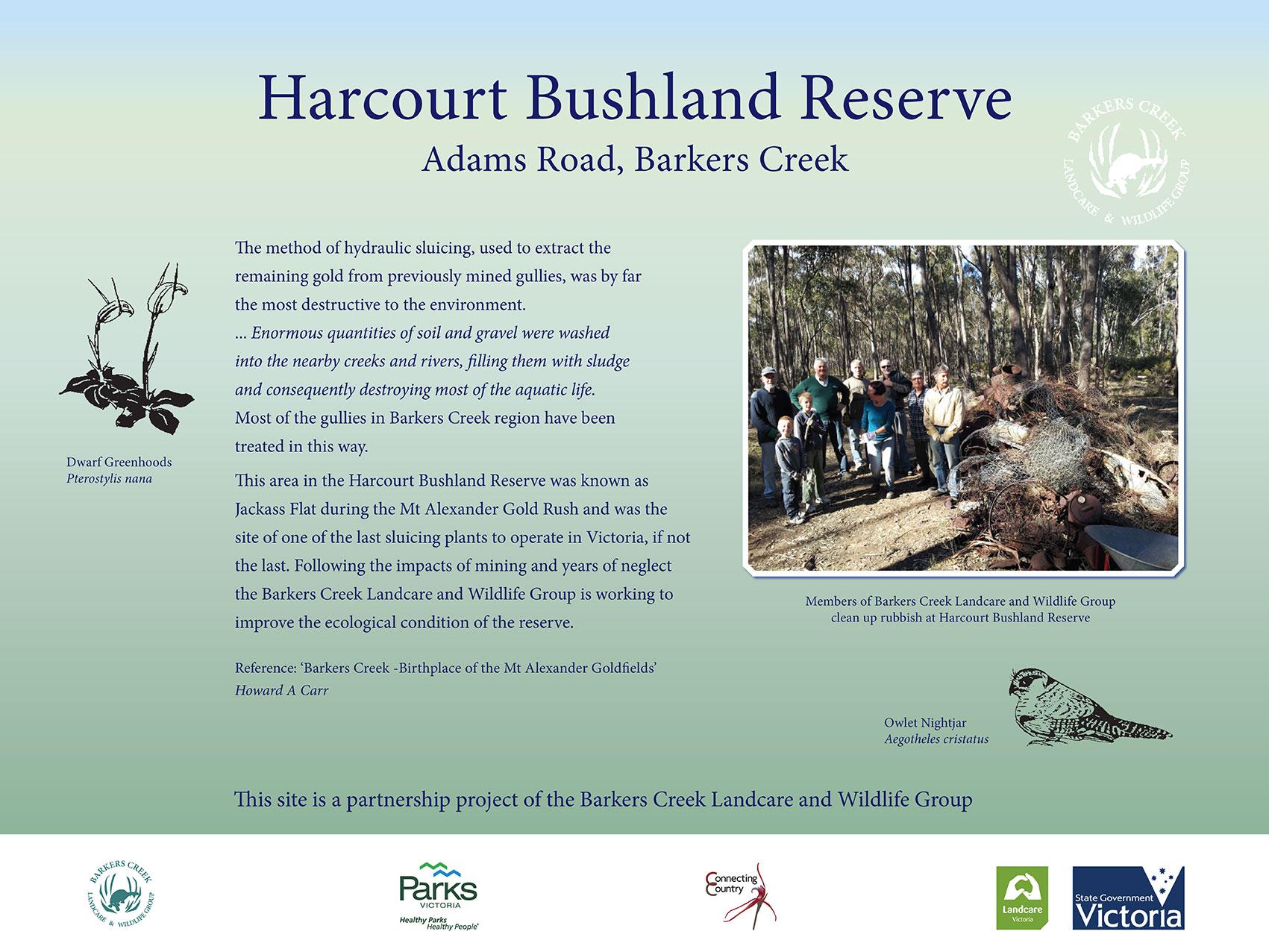 Signage at Harcourt Bushland Reserve