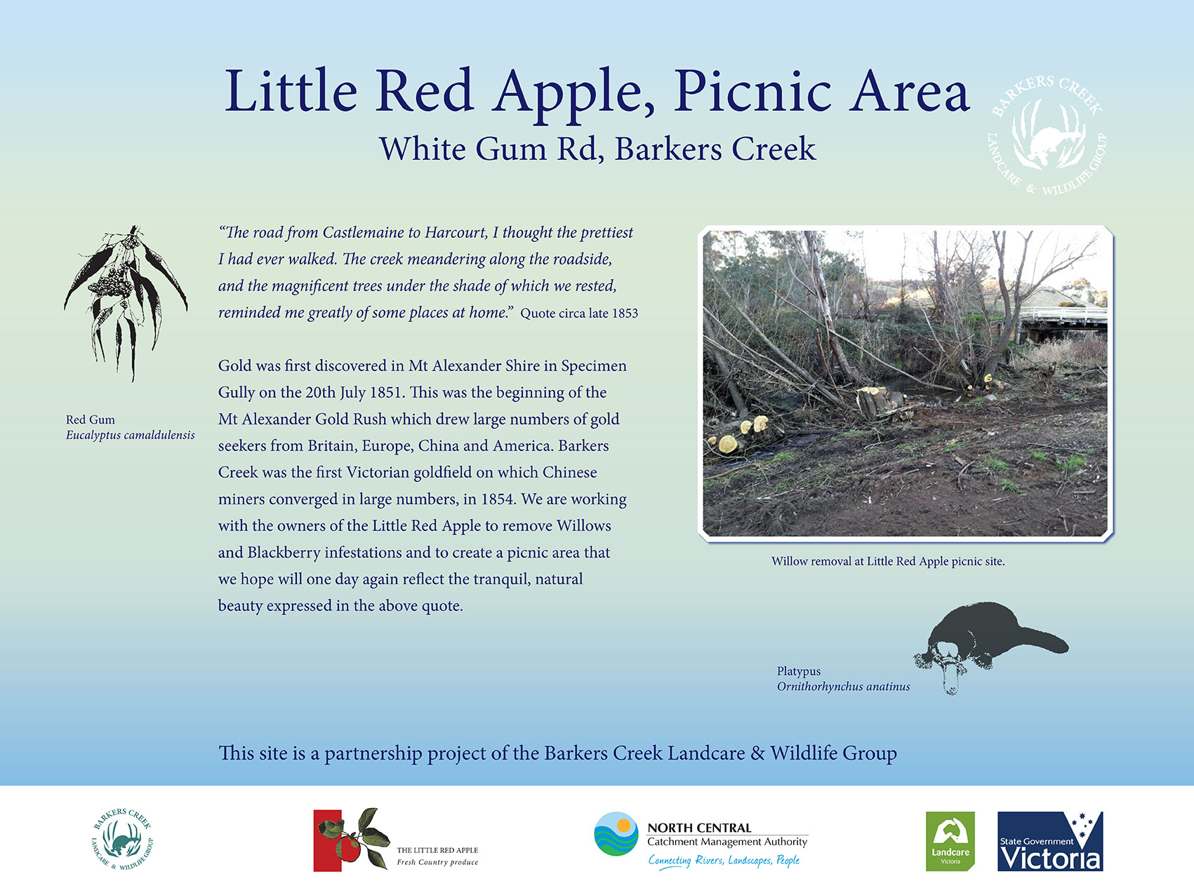 Signage at Little Red Apple Picnic Area