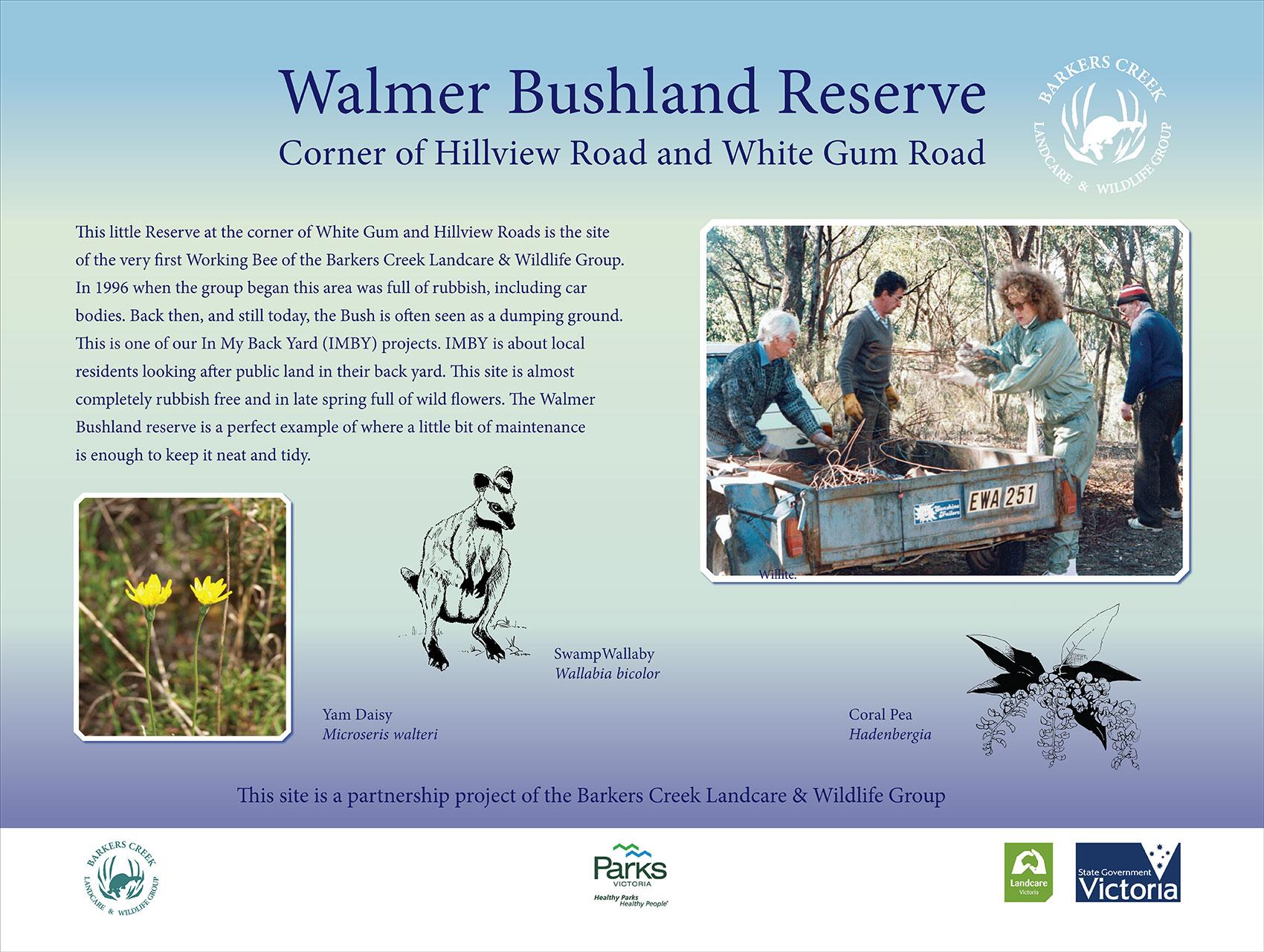 Signage at Walmer Bushland Reserve